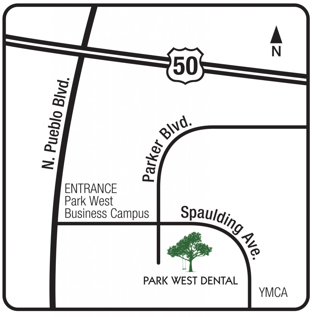 directions park west dental